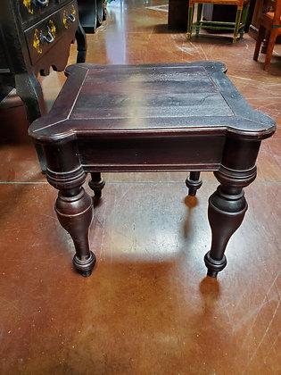Rustic Dark Wood End Table - Scottsdale