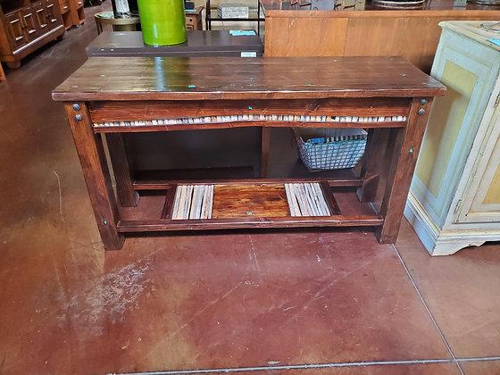 Rustic Dark Wood Sofa Table - Scottsdale