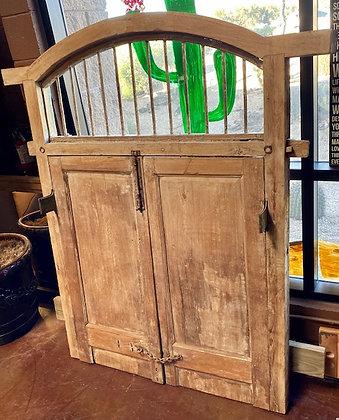 Rustic Door Frame Headboard