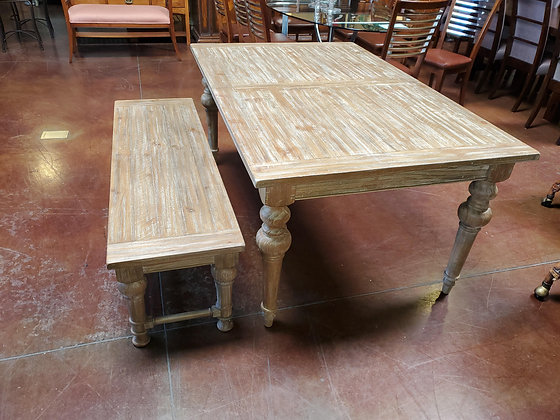 Dining Table W/Bench And Leaf - Scottsdale