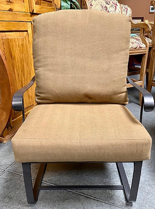 Patio Rocker with Tweed Pattern Cushions
