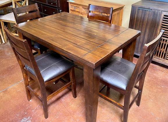 Pub Table with 4 Stools & Butterfly Leaf