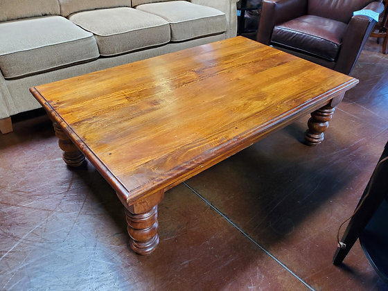 Rustic Solid Wood Coffee Table - Scottsdale