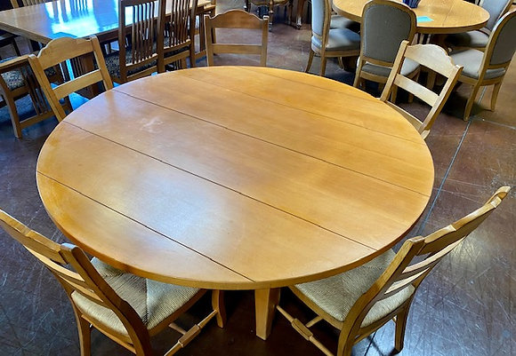 Drexel Heritage Dining Table with 5 Chairs & Lazy Susan
