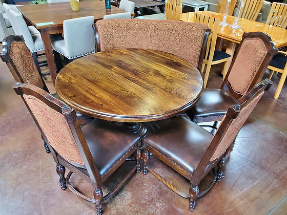 Rustic Dining Table W/4 Chairs & Bench - Scottsdale