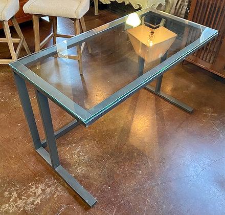 Crate & Barrel Glass Top Writing Desk Scottsdale