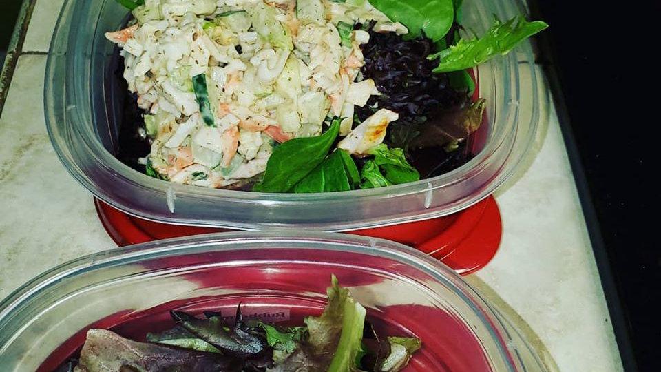 Lemon Tarragon Crab or Chicken Salad