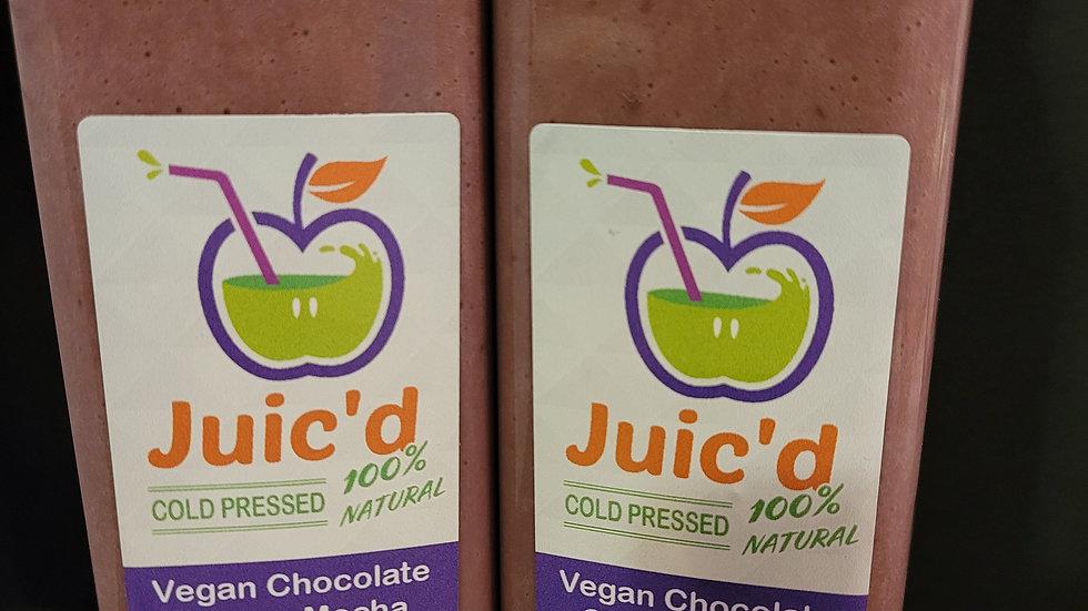 Chocolate Cherry Mocha Vegan Protein Shake (pictured w/added Caffeine)