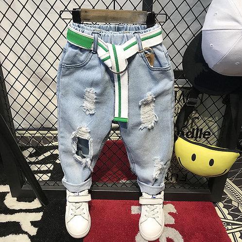 Children Broken Hole Pants Trousers 2018 Baby Boys Jeans Brand Fashion