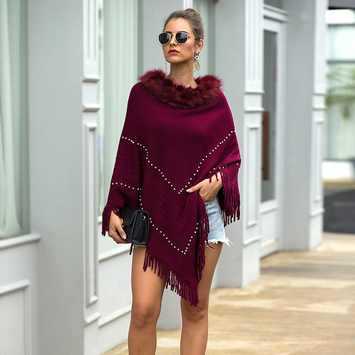 Women Sweater Fashion Ponchos and Capes Winter Clothes