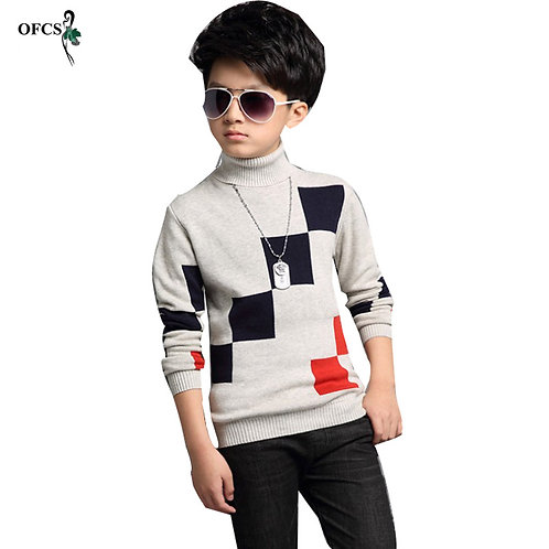New Big Boy 5-16  T-Shirt Children's Knitted Sweater for Boys Sweaters Kids