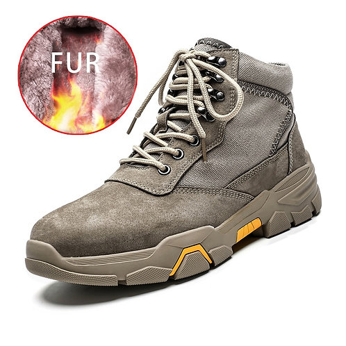 Men Winter Warm Snow Boots Waterproof  Casual Shoes Outdoor Fashion