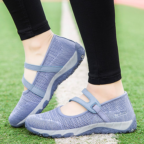 Women Flats Shoes Summer Mesh Sneakers Breathable Casual Shoes