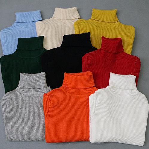 2020 Autumn Baby Boys Girls Turtleneck Sweaters Kids Girl Sweater for Winter