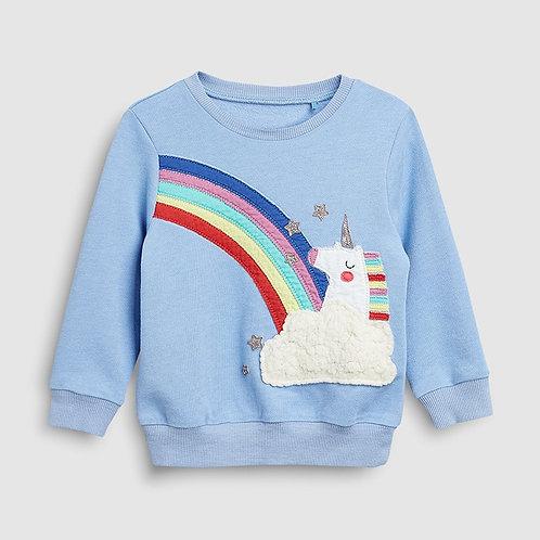 Little Maven 2-7Years Spring Autumn Unicorn Toddler Kids Baby Girl Sweatshirt