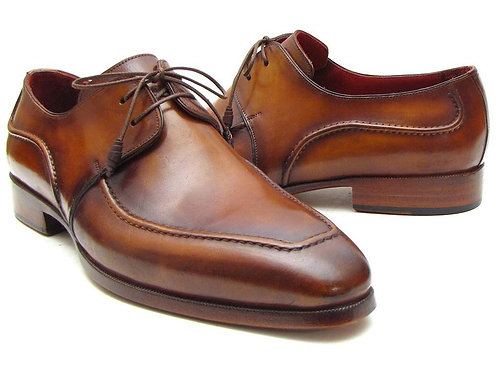 Paul Parkman Men's Brown Derby Dress Shoes for Men