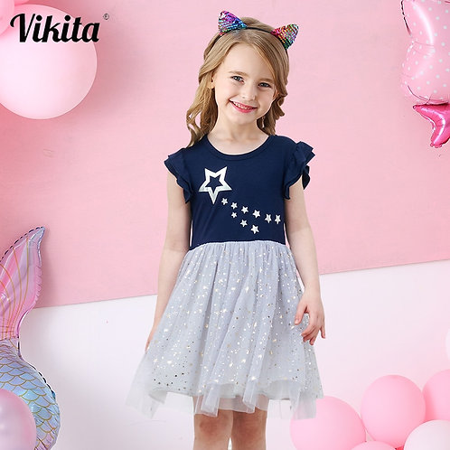 VIKITA Girls Princess Dress Kids Unicorn Dresses for Girls Children Sequins