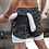 Thumbnail: Double Layer Jogger Shorts Men 2 in 1 Short Pants Gyms Fitness Built-In Pocket
