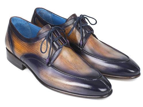 Paul Parkman Ghillie Lacing Camel & Purple Dress Shoes