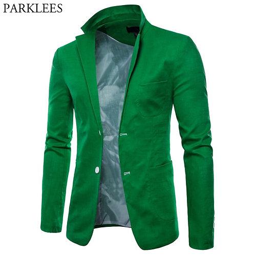 Men's Solid Lightweight Casual Blazer Jacket