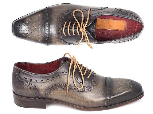 Paul Parkman Men's Captoe Oxfords Gray