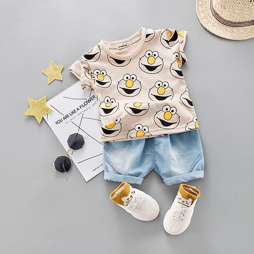 Baby Boy Clothing Set Cute Summer T-Shirt Cartoon Children Boys Clothes Shorts