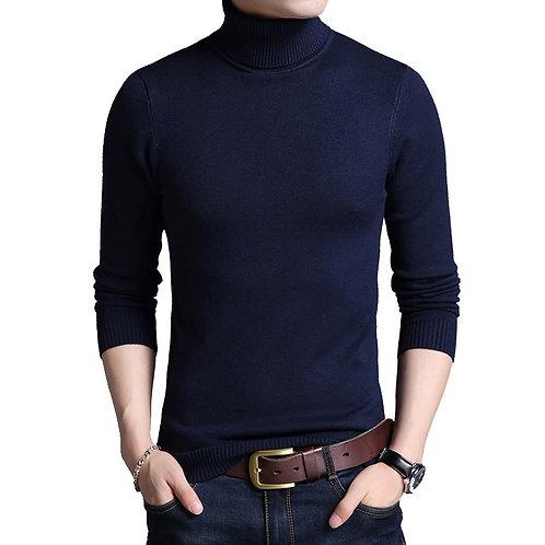 TFETTERS 2020 Slim Thickened Mens Base Coat Turtleneck Sweater Men Sweater Black