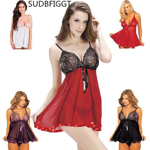 PLUS SIZE Sexy Lingerie Women Sexy Hot Erotic Underwear Ladies Lace Slips