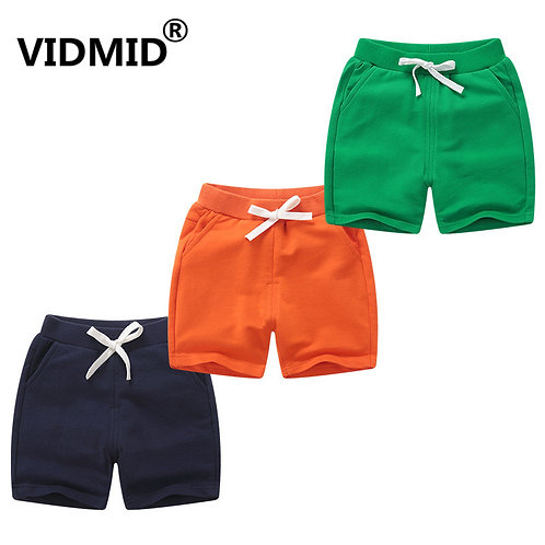 VIDMID New Summer Cotton Children Shorts for Boys Girls Boys Beach Trousers