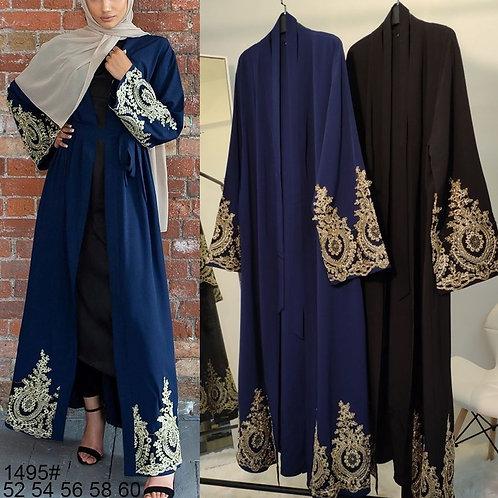 Lace Abaya Kimono Cardigan Muslim Hijab Dress Turkish Saudi Arabia African