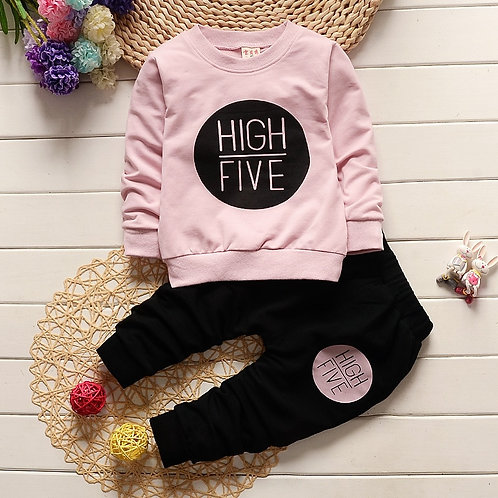1 2 3 4 Year Children Clothing Set Long Sleeve Shirts + Pants Kids Clothes