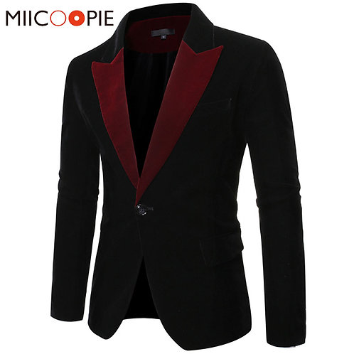 Men Clothes Casual Suit Men Blazer Masculino Slim Fit Single Button Blazer