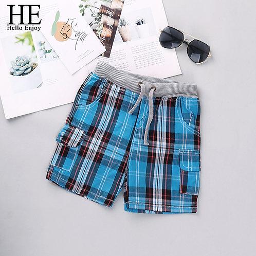 HE Hello Enjoy Boys Shorts 2020 Fashion Plaid Baby Boys Shorts Summer Children