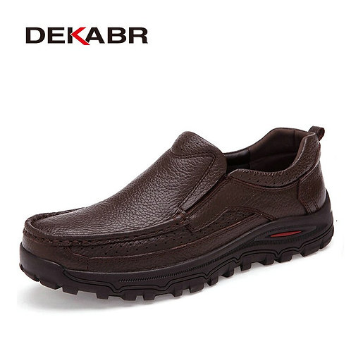Casual Men Genuine Leather Loafers Handmade Moccasins Shoes