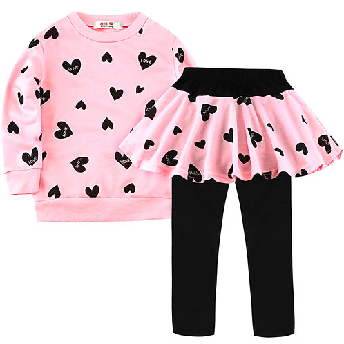 Toddler Girls Clothes Kids Autumn Winter T-Shirt+Pants Christmas Clothes Girls