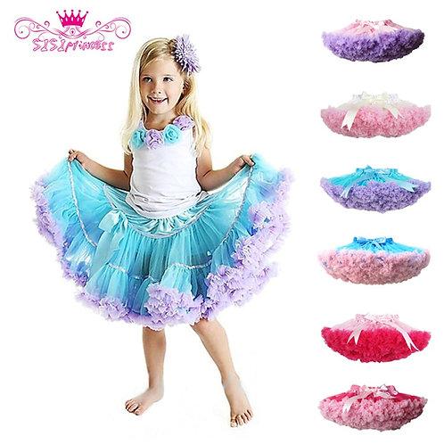 Factory Outlets Fashion Fluffy Chiffon Pettiskirts Tutu Baby Girls Skirts