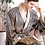 Thumbnail: Men Silk Long-Sleeved Bathrobe Kimono Home Bath Gown Male Printed Geometric