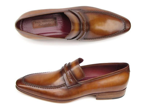 Paul Parkman Men's Loafer Brown Leather Shoes