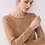 Thumbnail: Women Knitting Sweater Long Sleeves Curled O-Neck Collar Female Shor