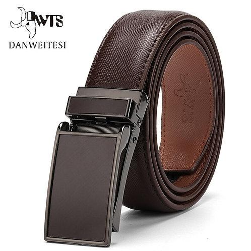 Belt Male Men's Belt  Genuine Leather Strap Luxury Brand Automatic Buckle