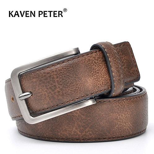 Men Gents Leather Belt / Casual Belts Men /Black Grey Dark Brown and Brown Color