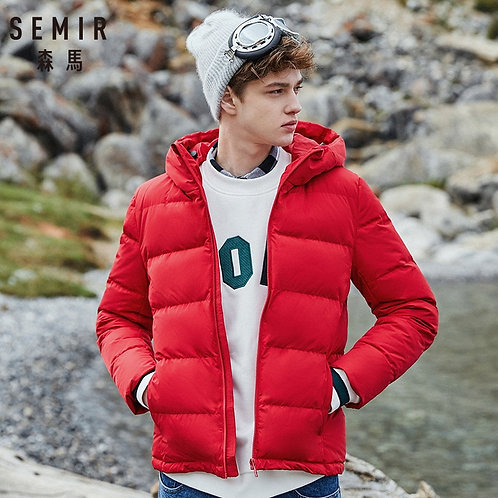 SEMIR Winter Jacket Men 2019 New Couples Thick Coats Ultra-Light Slim Hooded