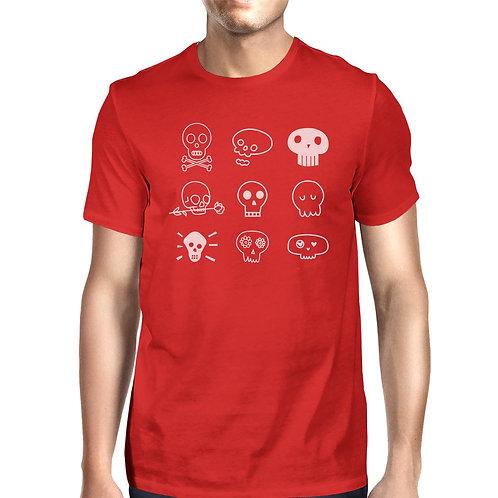 Skulls Mens Red Shirt