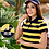 Thumbnail: New Summer Striped Cotton Short Sleeved Polos Womens Polo Tops Plus Size