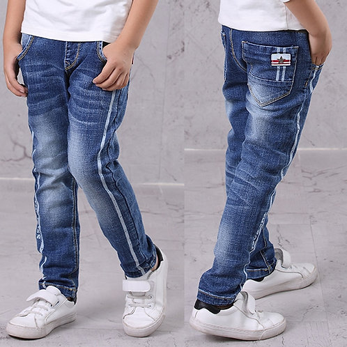 IENENS Kids Boys Jeans  Fashion Clothes  Classic Pants Denim Clothing Children