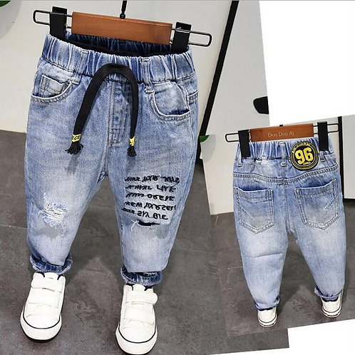 New Spring Autumn Style Baby Boy Jeans Pants 2-6years Age Kids Boys Denim Jeans