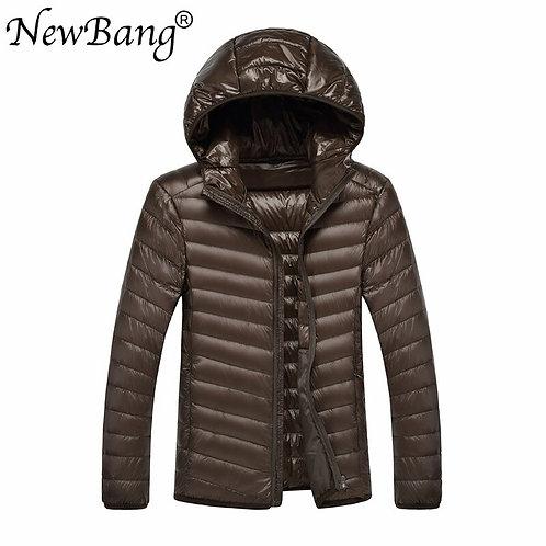 NewBang Brand Men Ultra Light Duck Down Jacket Lightweight Feather Hooded Coat