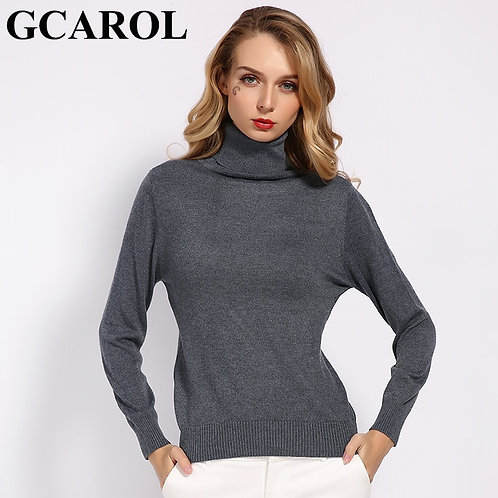 New Fall Winter 30% Wool Turtleneck Sweater Soft Handle Warm Women