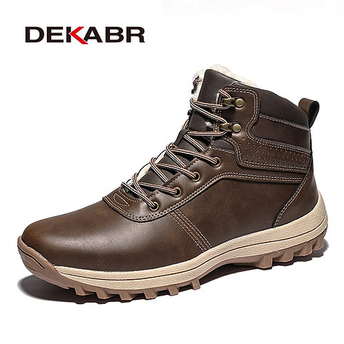 Men Boots With Fur Plush Warm Men Casual Boots High Quality Waterproof Boots