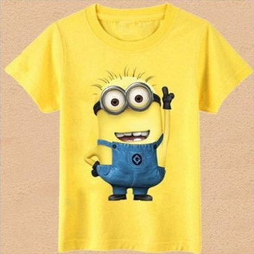Fashion Boys Girls T Shirt Cartoon Kids Clothes Tee T-Shirt Short Sleeve Top